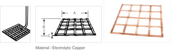 Copper Ground mat Lattice Earth mats