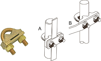 U Bolt for Rod to Tape Clamps